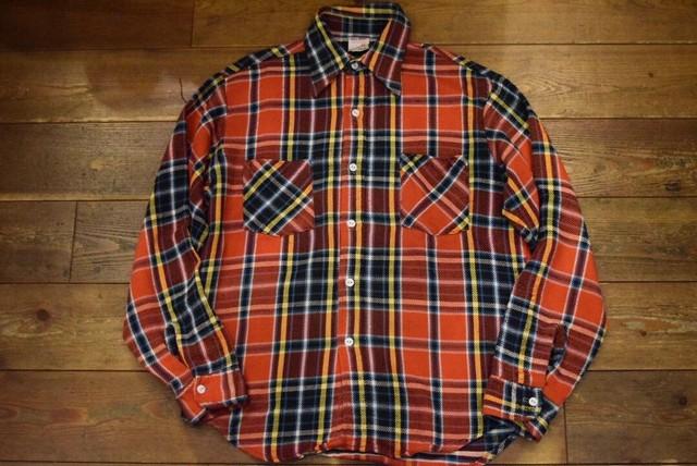 USED USA製ビッグマック ヘビーフランネルシャツ 100%コットン M 70s vintage bigmac