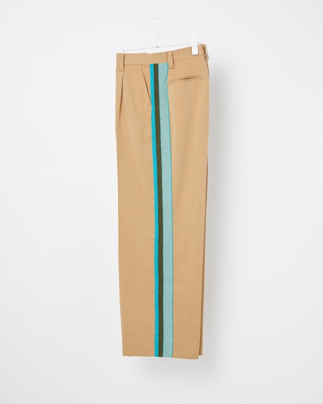 【COOHEM WOMEN】KNIT SIDELINE PANTS:ベージュ