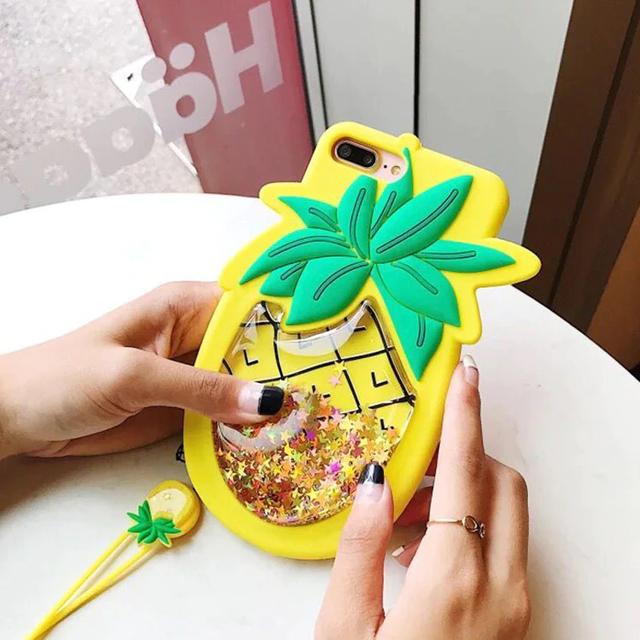 pineapple Glitter iphone case