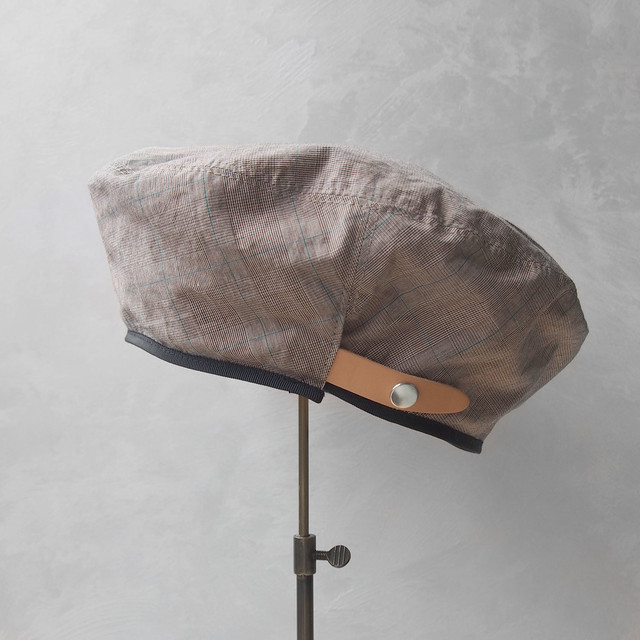 Nine Tailor Dish beret Brown check
