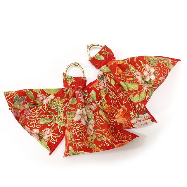 Red  Flowering Plant - Kinsai Ear Accessory
