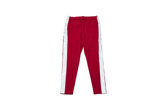 """EZ DO by EACHTIME. """"NIGHT CRUISING JERSEY PANTS"""" RED"""
