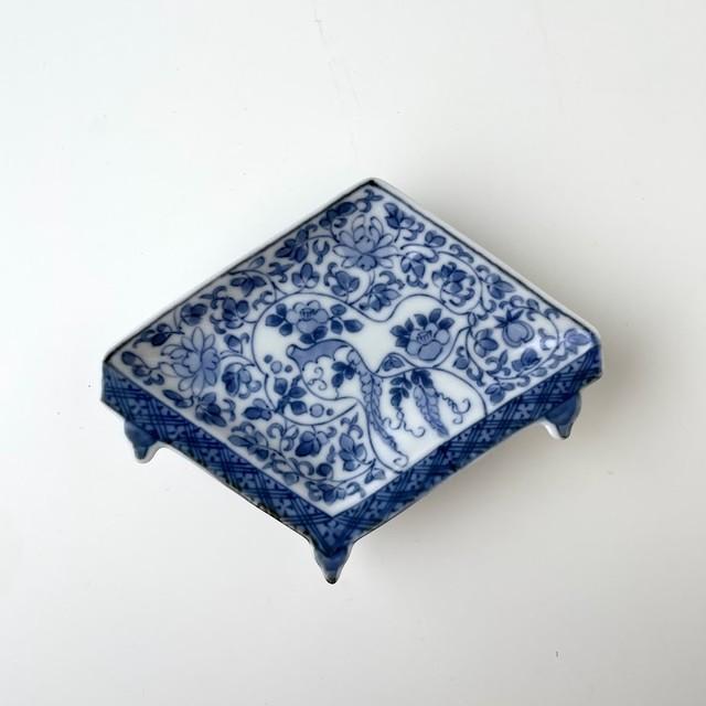 【おてしょ皿】みじん唐草瓢文 盤型手塩皿
