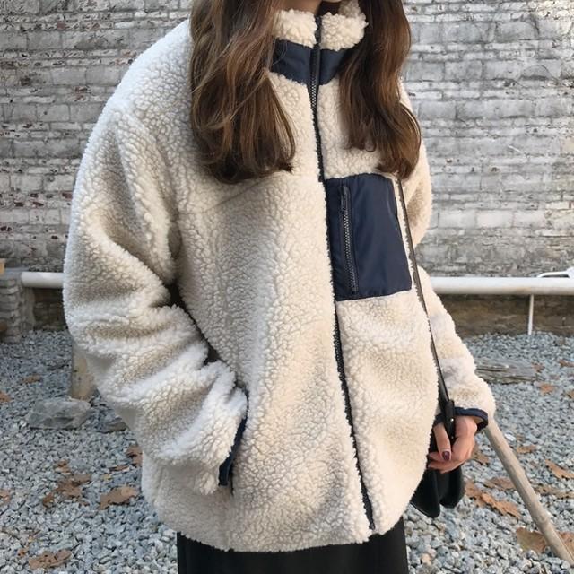 【outer】スタンドネックジッパー韓国ファッションコート