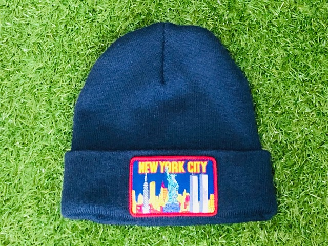 Supreme NY PATCH BEANIE NAVY 22.5JG7425