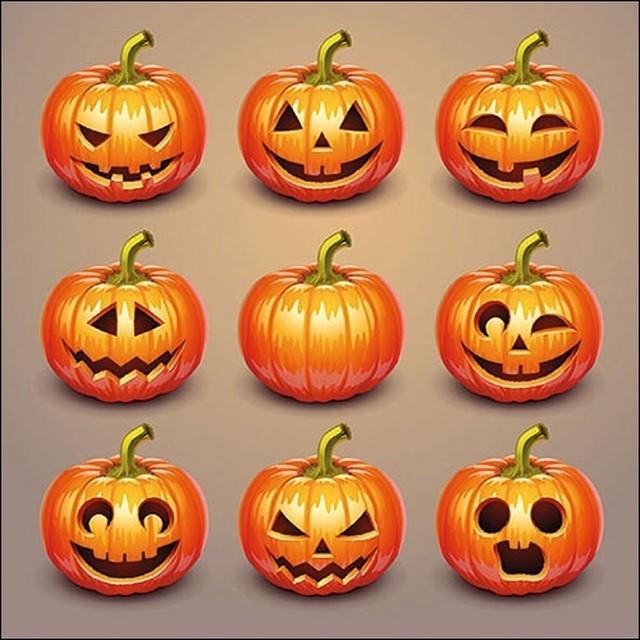 2020秋冬新作【Ambiente】バラ売り2枚 ランチサイズ ペーパーナプキン Halloween Pumpkins オレンジ