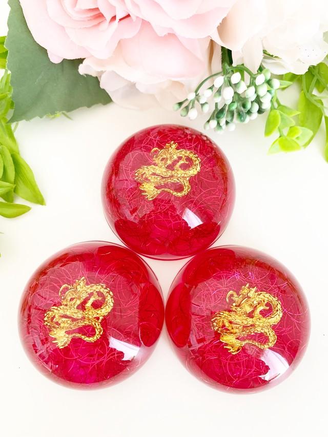 【龍神オルゴナイト・マゼンダピンク(無条件の愛)&LOVE運&愛情運アップ】ドーム型オルゴナイト・