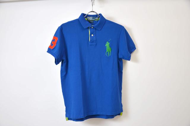 POLO RALPH LAUREN ポロラルフローレン CUSTOM FIT BIG PONY POLO SHIRT カスタムフィット ビッグポニー ポロシャツ BLUE 400603190616