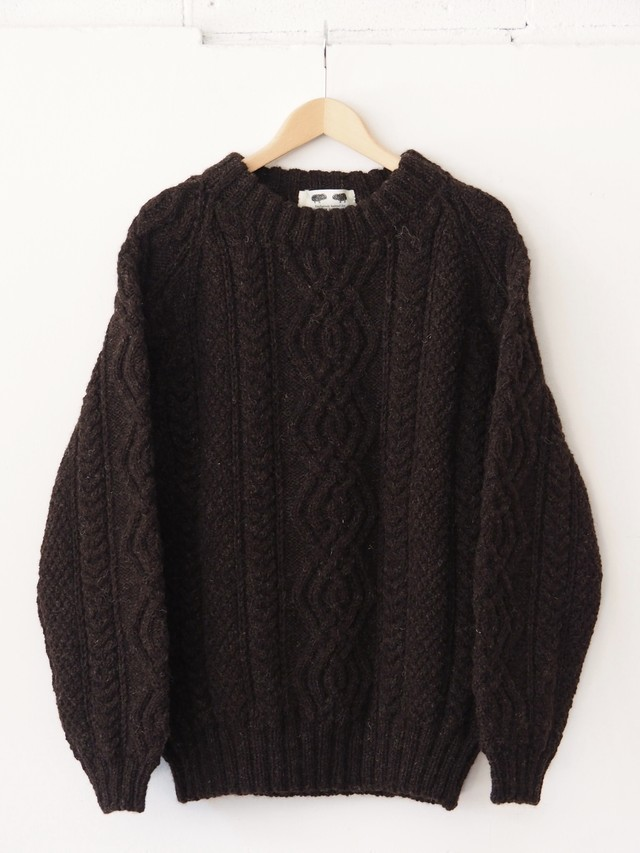 The Black Sheep Of Rye Cable Knit Brown,Black