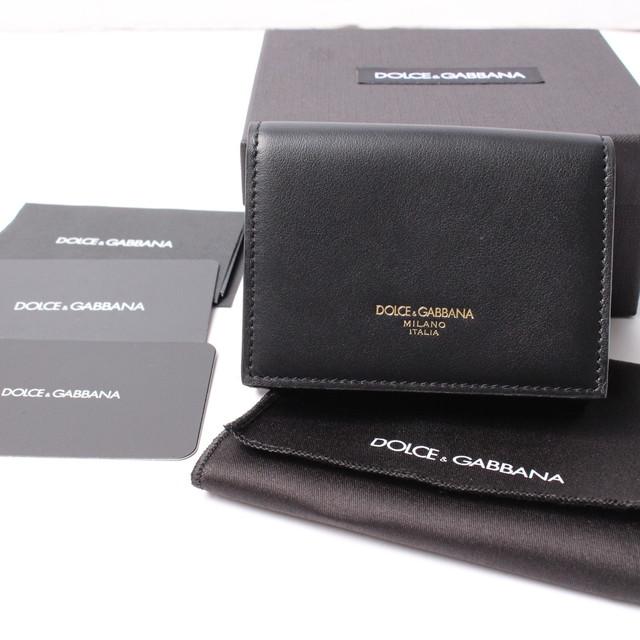Dolce&Gabbana(ドルチェ&ガッバーナ) 三つ折り財布 レザーウォレット 小銭入れ付き メンズ ブラック BLACK BP2525 AZ607 [全国送料無料]r016321