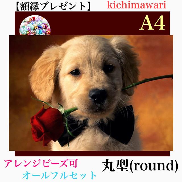 A4サイズ 丸ビーズ(round)【r10486】額縁プレゼント付き♡フルダイヤモンドアート