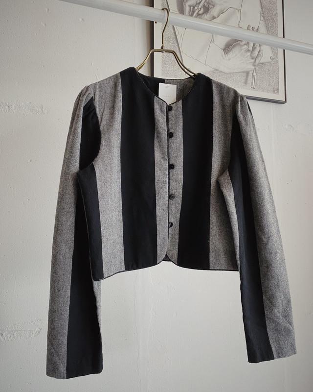 vintage bicolor short jacket