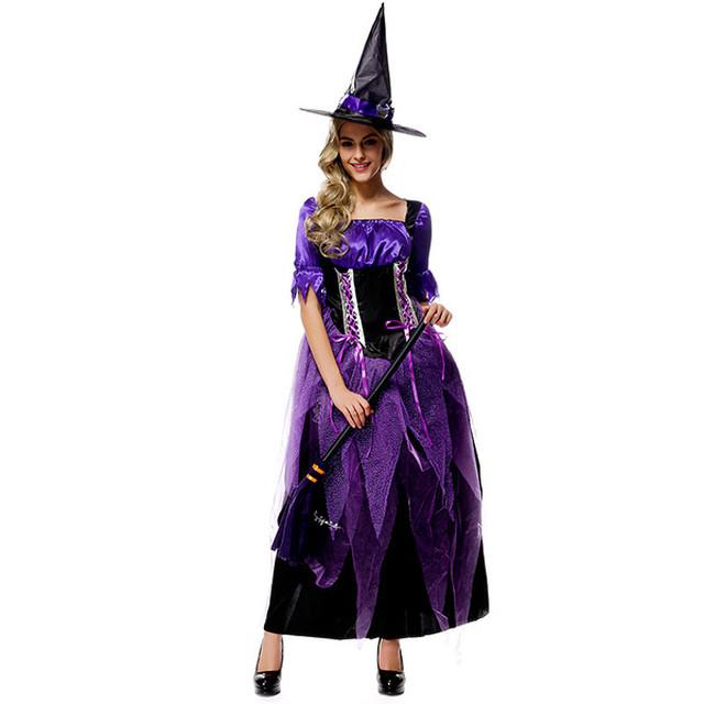 【ハロウィン☆彡 衣装 魔女 魔法使い】送料無料   ウィッチ コスプレ 衣装 コスチューム 大人用