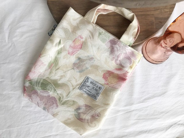 Upcycled CLOTH bag ー lemon flower ー