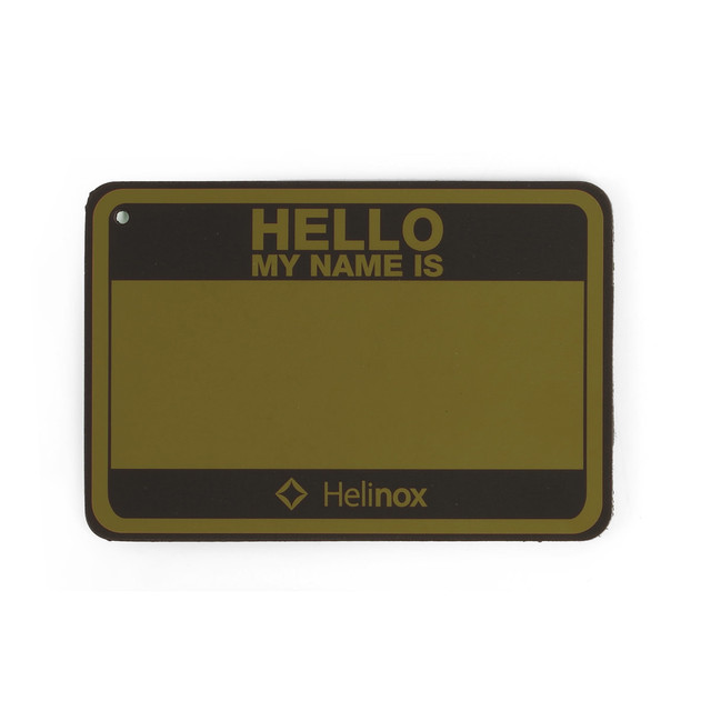 Helinox ヘリノックス Hello My name is Patch Hello my name is パッチ