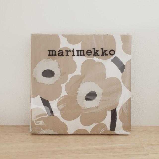 2020春夏新作【marimekko】ランチサイズ ペーパーナプキン UNIKKO クリーム×ベージュ 20枚入り