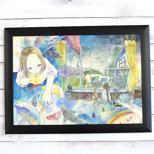 【おおやまとみこ】立体布マスク(紺花)・レディースサイズ/マスク
