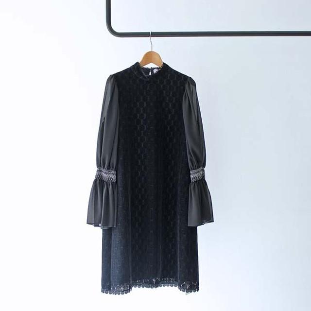 【AVERY ROW】 Shirring Sleeve Dress