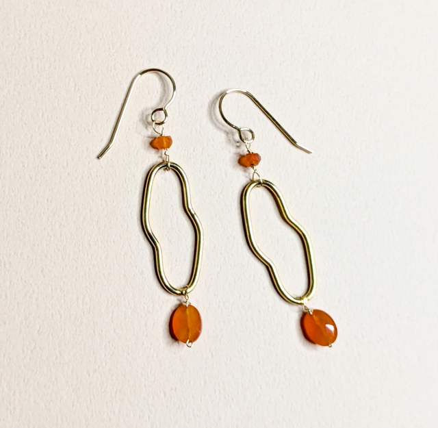 Carnelian earrings | MIHO meets RUKUS