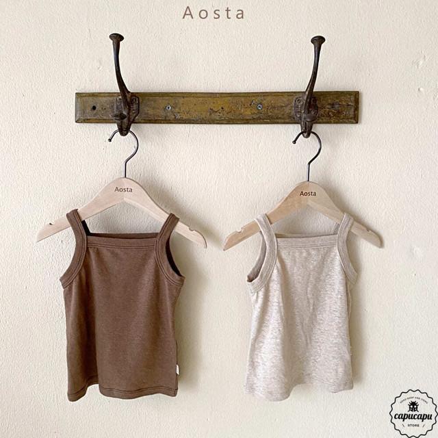 «予約» Aosta Linen T 2colors リネン ノースリーブ