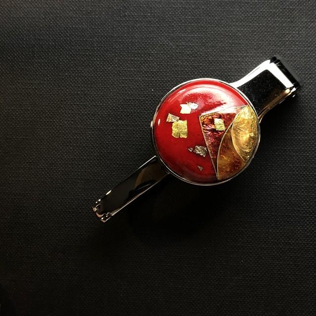 七宝バックハンガー 赤金