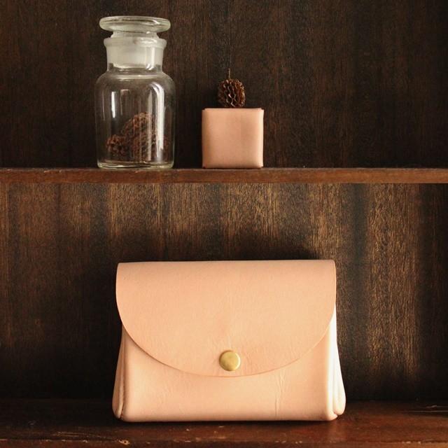■【 sim half 】 wallet / 牛ヌメ革 natural