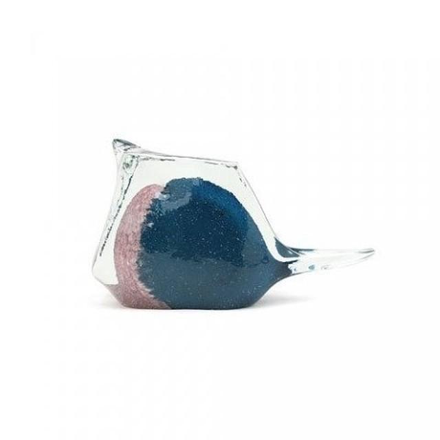 BIRD PAPER WEIGHT (小鳥のガラス製ペーパーウェイト) Lサイズ 【ネイビー(L-N)】