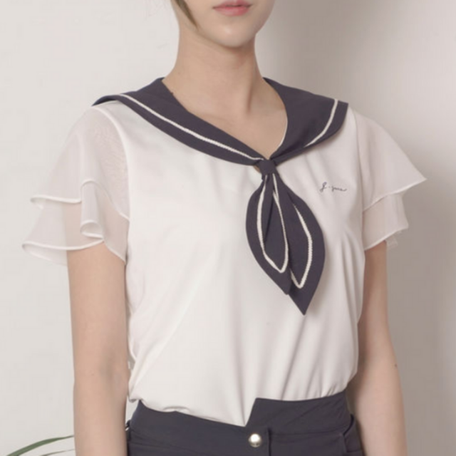 Sailor blouse(Navy)