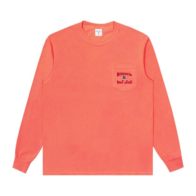 Noah x Birdwell Long Sleeve Tee(Neon Red )