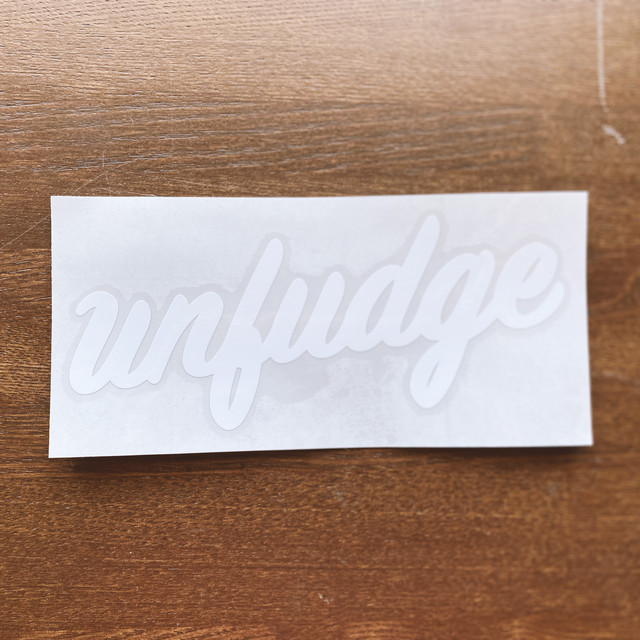 unfudge LOGO STECKERS / BLACK