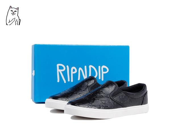 RIPNDIP|Blackout Camo Slip Ons