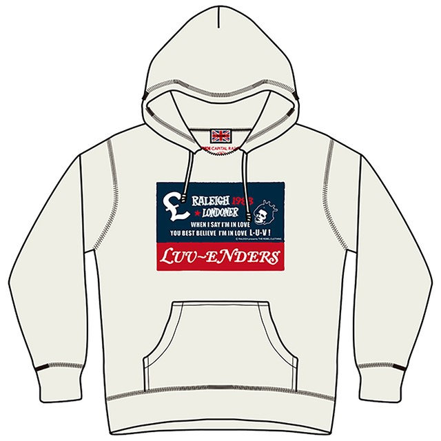 """One way ticket to London hoodie""  Raleigh design × Luv-Enders カスタムパーカー RVLG-013"