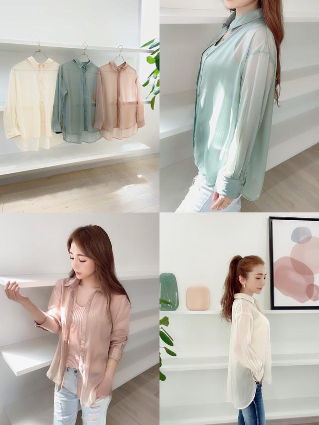 上質♡エアリーシアーシャツ ¥6,900+tax