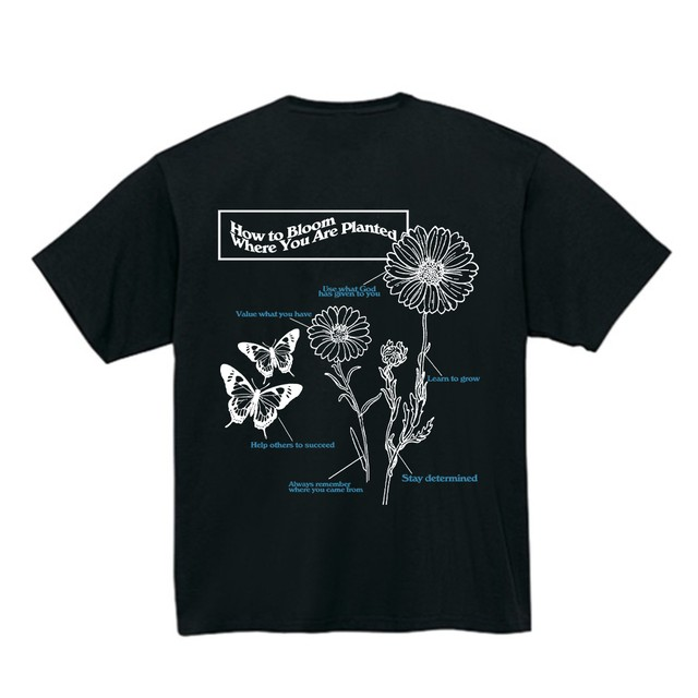 【Cat & Parfum】How to Bloom Where You Are Planted Tee