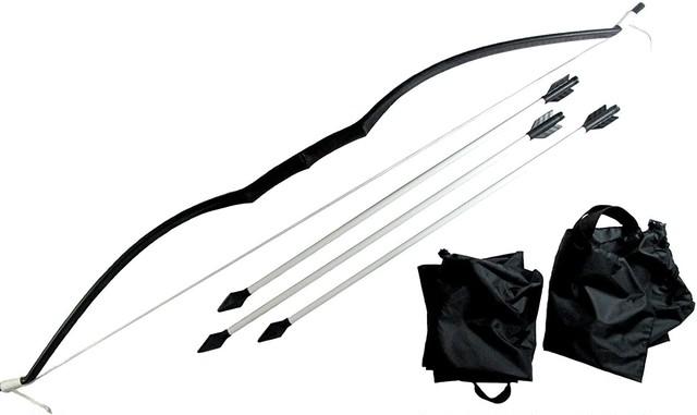 S004IM 弓矢 短弓セット (弓+矢3本+収納袋付き)