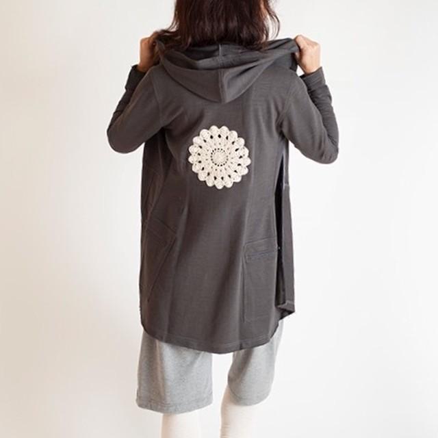 Pema+Love  Mandala Emblem Long Jacket マンダラエンブレムロングジャケット チャコールグレイ