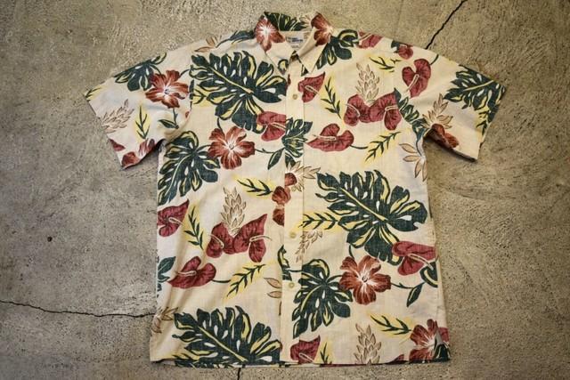 USED REYN SPOONER Aloha shirt  L  S0166