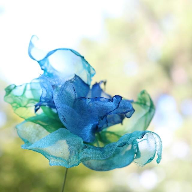 カラフルオーガンジーのアートフラワー【造花】|アメジスト