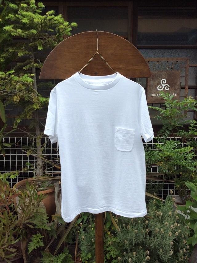 YAECA  Tシャツポケット付き #170207、WHITE