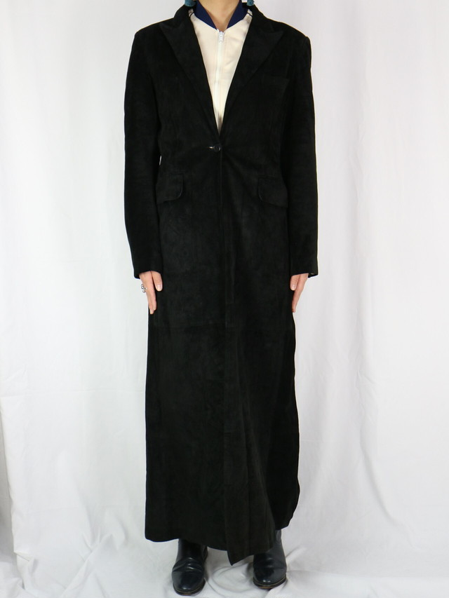 leather suede long coat【5090】