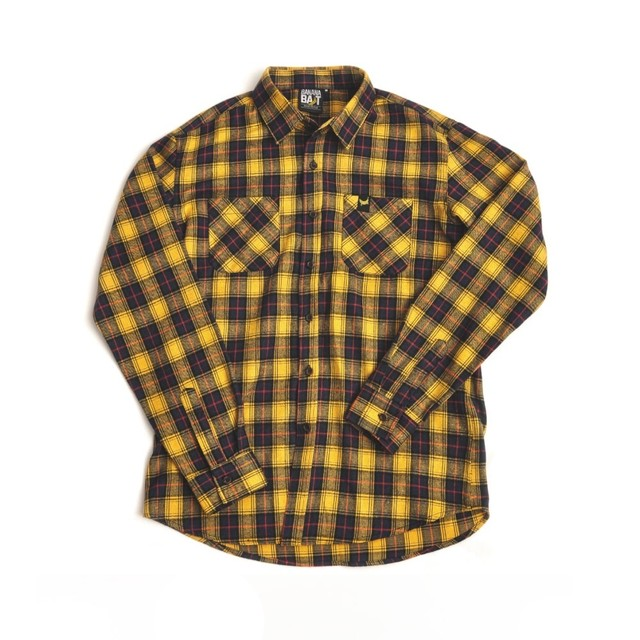 【Banana Bait】Banana Check Shirts / Yellow