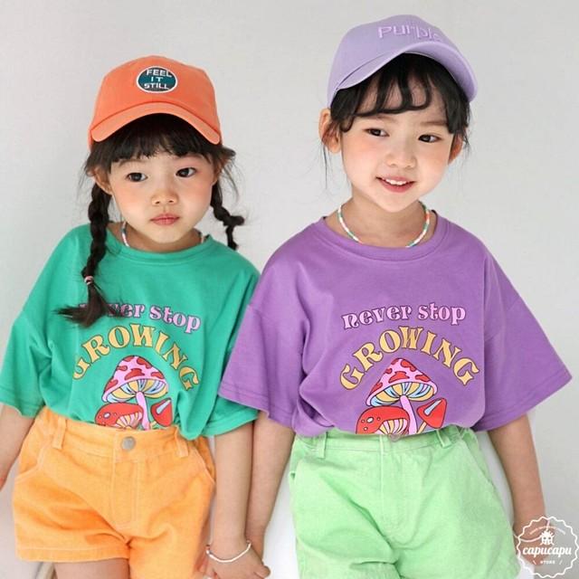 «予約» bubble kiss mushroom T マッシュルームTシャツ