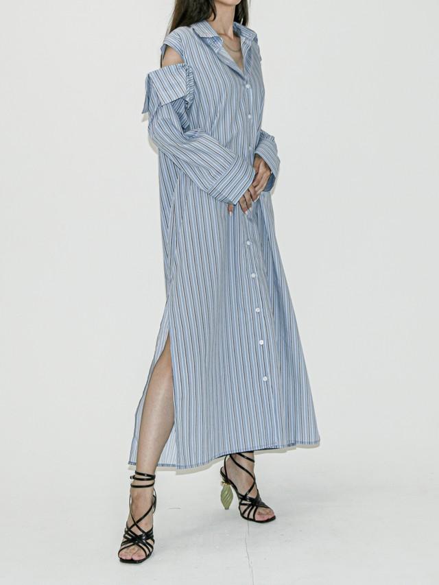 【WOMENS - 1 Size】2WAY MAXI SHIRTDRESS / Blue