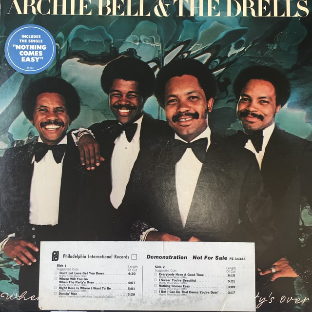 Archie Bell & The Drells ‎– Where Will You Go When The Party's Over