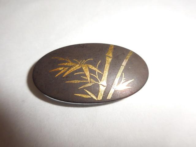 肥後象嵌の帯留 inlay work obi sash clip