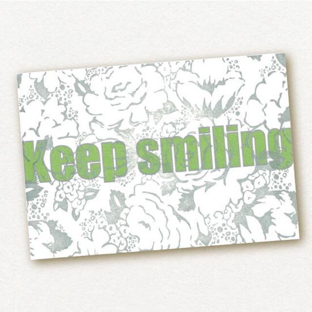 ポストカード 活版印刷&プリント Keep Smiling