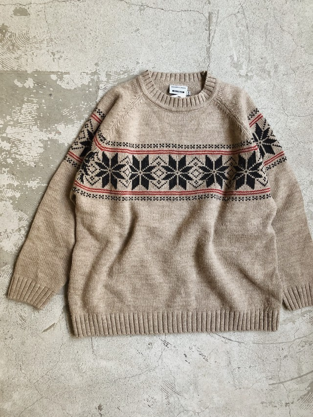 """""""ROVER&LAKES"""" vintage Nordic sweater"""