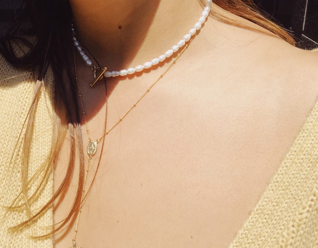Pearl Mantel Necklace パールマンテルネックレス