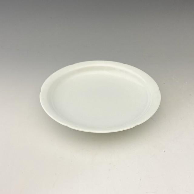 【中尾恭純】白磁縁カット皿