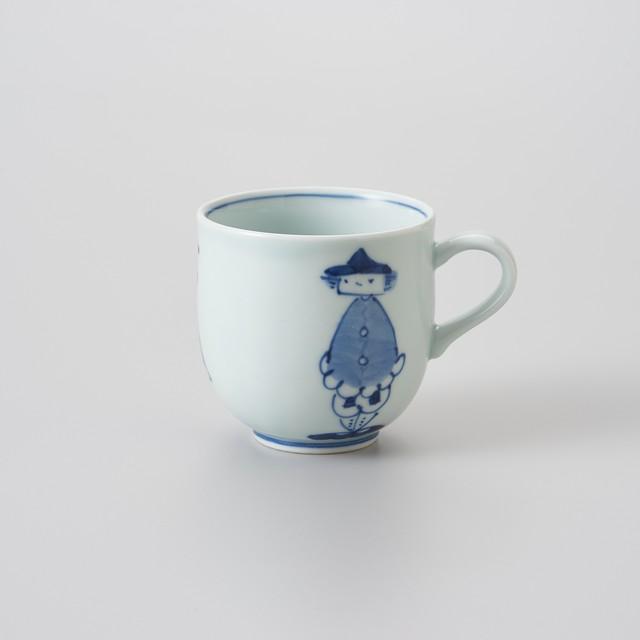 【青花】三人異人 ミニマグカップ
